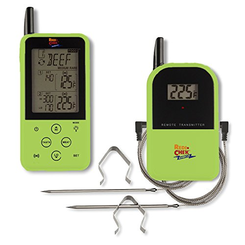 "Maverick Et-733 Long Range Wireless Dual Probe BBQ Smoker Meat Thermometer Set - Newest Version With A Larger Display And Added Features (Color - Green) ** Newest Color ** - ""Limited Edition"""