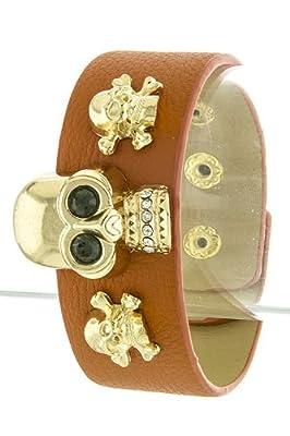 Trendy Fashion Single Skull Wrap Bracelet By Fashion Destination by Fashion Destination