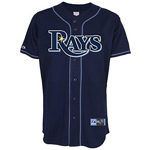 Brand New Tampa Bay Rays Big Sizes Mens Baseball Jersey Navy Jersey Big and Tall 4XL