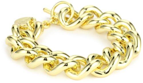 1AR by UnoAerre 18k Gold Plated Groumette Chain Link Bracelet