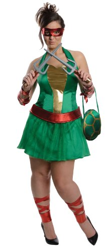 Women's Teenage Mutant Ninja Turtles Raphael Costume - Plus Size