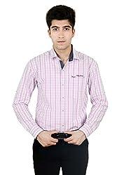 T.D.G Casual Long Sleeve Cotton Shirt (Pink)
