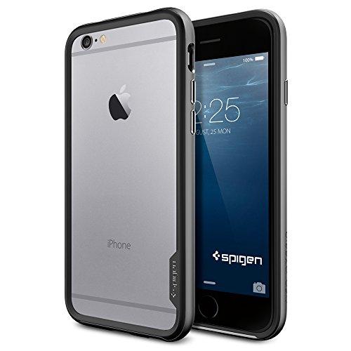 iPhone 6 ケース, Spigen® [ スリム バンパー ] Apple iPhone 4.7 (2014) ネオ・ハイブリッド EX The New iPhone アイフォン6 (国内正規品) (ガンメタル SGP11024)