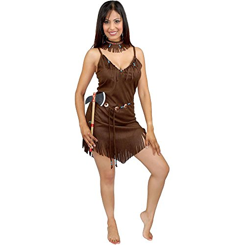 Brown Pocahontas Sexy Indian Adult Costume