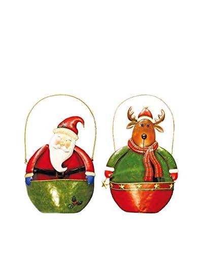 Christmas Chalet  Set Decorazione Da Appendere 2 pezzi