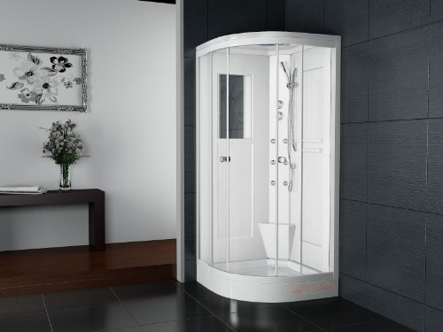 Mini Dusche Ma?e : Mebasa MYBDA5024 Duschkabine, Duschabtrennung, Dusche mit Eckeinstieg