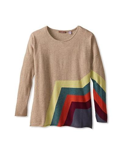 Cullen Women's Stripe Detail Cashmere Pullover