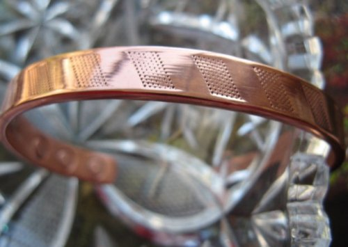 Men's Solid Copper 8 Inch Magnetic Cuff Bracelet #827