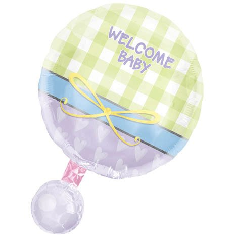 Baby Rattle Personalized 18in Balloon