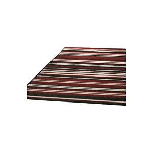 4 Sizes Available - Element - Canterbury Red/Black - Good Quality Stripe Rug from Flair Rugs