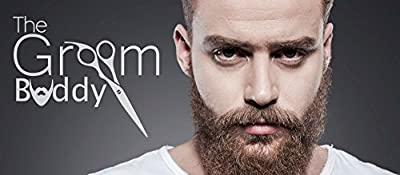 The Groom Buddy Hair and Beard Styling and Shaping Tool Set for Men's Facial Hair and Hairline - Perfect Symmetric Lines and Trims. Tools for a Guy's Beard Mustache Goatee Side Burns Neck & Line ups