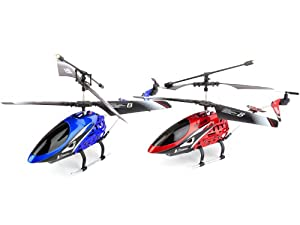 2 in 1 Viefly Nexus V789 - Best Selling 3 Channel Metal Frame Helicopter w/Gyroscope (Blue & Red)