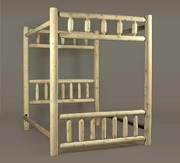 canopy log bed frame r90F8Exs