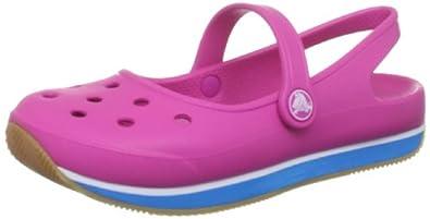 crocs Crocs Retro Mary Jane W 14134-6K5-520, Damen Ballerinas, Pink (Fuchsia/Ocean 6K5), EU 42/43