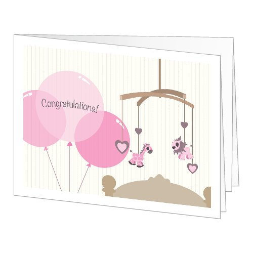 Amazon Gift Card - Print - New Baby Girl (Balloons) front-619708