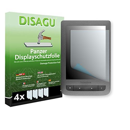 4 x DISAGU Film blindé film de protection d'écran pour PocketBook Touch Lux 3 film de protection contre la casse