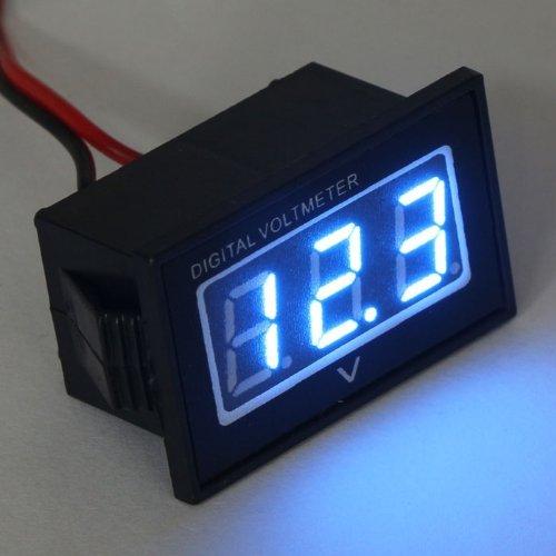 Small Digital Voltmeters Dc : Kimdrox wires small digital voltmeter power volt meter