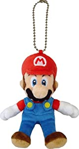 "Official Nintendo Mario Plush Series Stuffed Toy - 5"" Mario Mascot Strap (Japanese Import)"