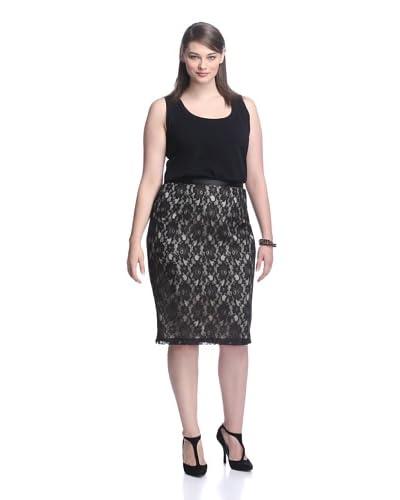 Single Women's Plus Lace Pencil Skirt