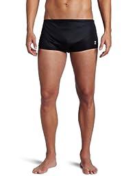 TYR Sport Men\'s 8-Inch Nylon Team Trainer Swim Suit (Black, 36)