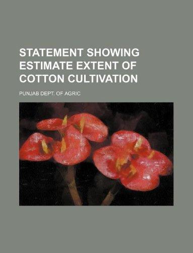 Statement showing estimate extent of cotton cultivation