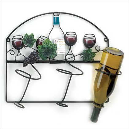 Learn More About Grapevine Bistro Wall Rack Wine Bottle Storage Holder