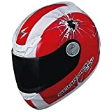 Scorpion EXO-400 Graphics Helmet, Impact Red, Primary Color: Red, Helmet Type: Full-face Helmets, Helmet Category: Street, Size: Lg 40-5015