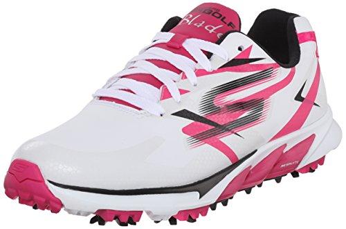 Skechers Performance Women's Go Golf Blade Golf Shoe, White/Pink, 11 M US (Golf Blades compare prices)