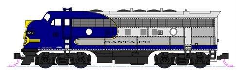 Scala N Kato Locomotiva diesel EMD F7A Santa Fe
