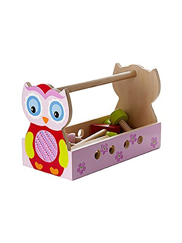 Toy Tool Kits For Girls : Cute pink owl take along tool kit box toy set ideal