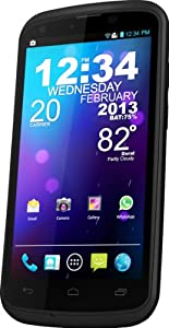 BLU Tank 4.5 W110i Unlocked Dual SIM Phone with Dual-Core 1GHz Processor, Android 4.1, 3G HSPA, High Res IPS LCD, and  Dust and Waterproof Protection - U.S. Warranty (Black)