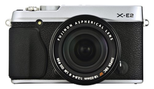 Fujifilm X-E2 Mirrorless Camera Kit with 18-55mm F2.8-4 Lens (Silver)