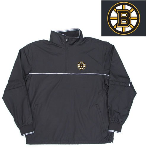 "Buy Boston Bruins NHL ""Omni"" Pullover Windshirt (Black)"