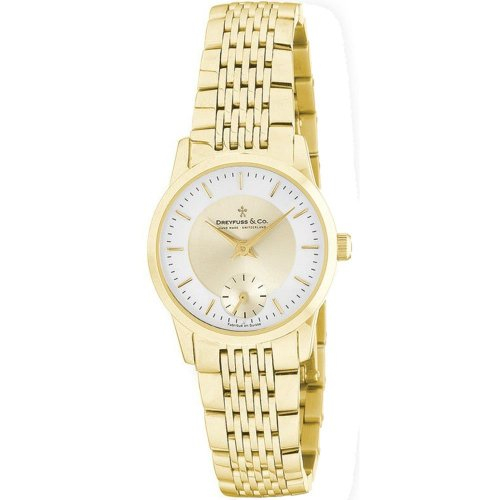 Dreyfuss Ladies Gold Tone Bracelet Watch DLB00002-03 DLB00002-03