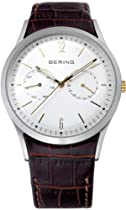 Bering Time 11839-501 Mens Multifunction Brown Watch