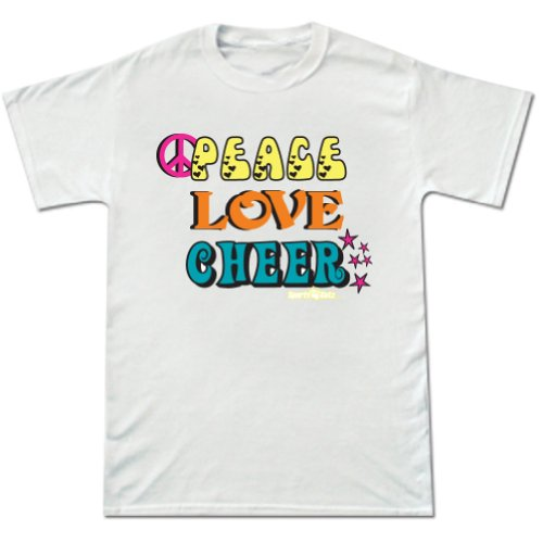 Cheer Peace Love Short Sleeve Tee White Medium front-816580