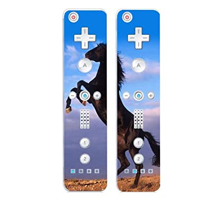 Nintendo Wii Remote Controller Decal Skin Stickers (Set of 2) - Mustang Horse