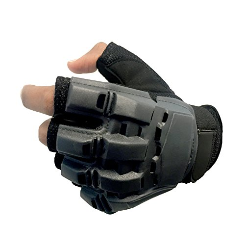 Sportly Tactical Fingerless Gloves - Best Grip in Any Conditions - Durable and Breathable - Ideal for Pistol Shooting, Paintball and Airsoft - Great as Mountain Bike or Motorcycle Glove- Medium (Ninja Climbing Gloves compare prices)