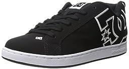 DC Women\'s Court Graffik Skate Shoe, Black/Black/White, 10 M US