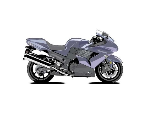 Vehicle Wall Decals - Purple Kawasaki Motorcycle - 36 Inch Removable Graphic front-1050618