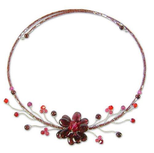 Garnet choker, 'Crimson Beauty'