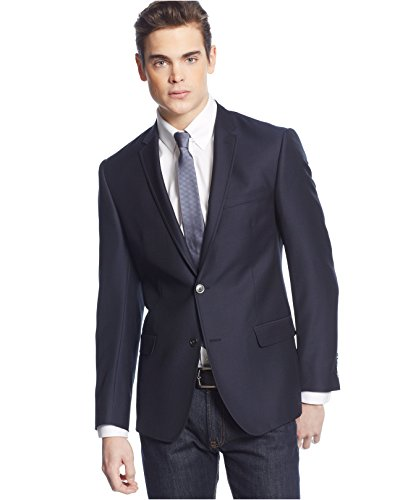 DKNY-Extra-Slim-Fit-Blazer-46R-Navy-Solid-Wool-New-Mens-Sport-Coat