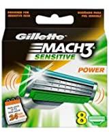 Gillette Lames Mach 3 Power Sensitive Testé Dermatologiquement x 8