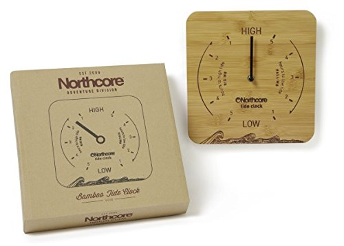 northcore-wall-mounted-bamboo-tide-clock