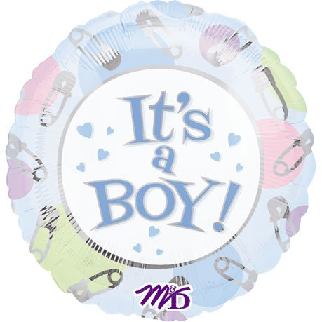 It's A Boy Dots & Pins Mini Balloon (1 ct) - 1