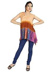 Shopping Rajasthan Exclusive Design Ethnic Rayon Crepe Handmade Handloom Tie Dye Indian Kurti Tops - B00PHBXL58