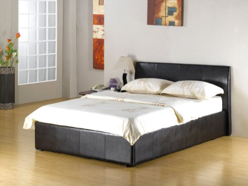 NEW DOUBLE BLACK FUSION OTTOMAN STORAGE BED MEGA OFFER NOW ON