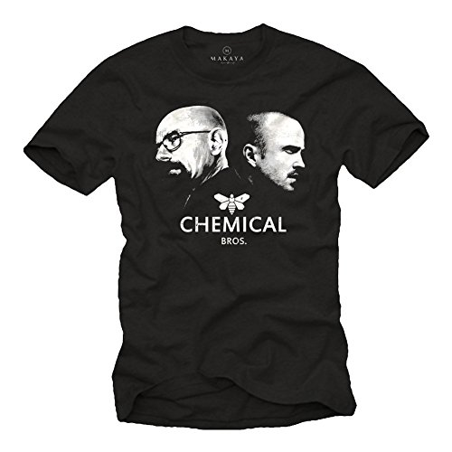 Maglietta Chemical Bros - T-Shirt Breaking Bad Heisenberg e Pinkman uomo nera M