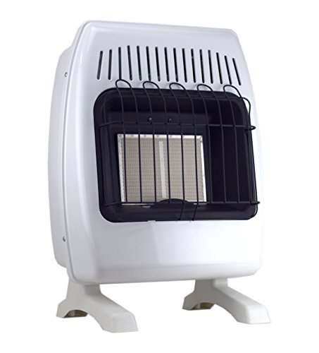 SUPERSPACE GCIR10DM 10,000 BTU Natural Propane Gas Wall Heater Vent-free Space Heaters Includes Wall-mounted and Base-legs (Gas Heater Wall Unit compare prices)