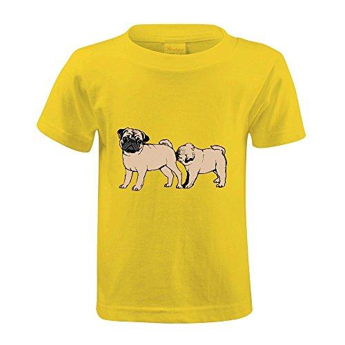 snowl-follow-pug-girls-crew-neck-print-tee-yellow